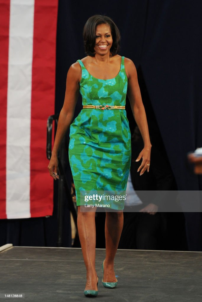 Michelle Obama Speaks At Miami High School : News Photo