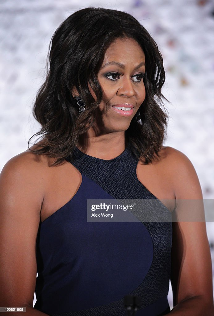 First Lady Michelle Obama Hosts Fashion Education Workshop At The White House : News Photo