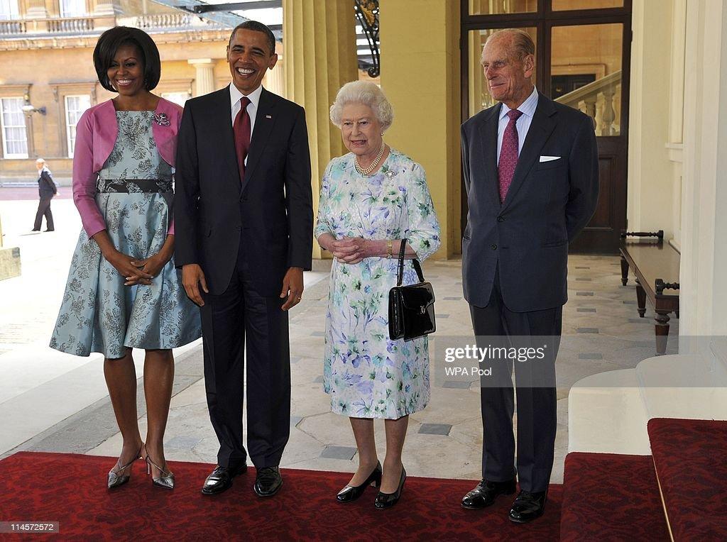 US President Barack Obama Visits The UK - Day One : Foto di attualità