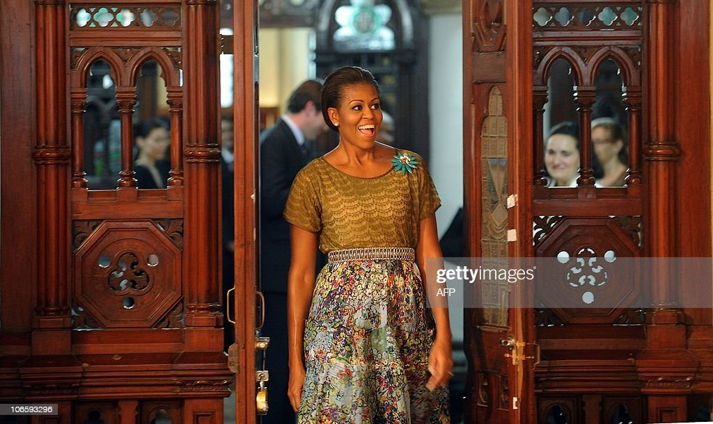 US First lady Mitchelle Obama arrives fo : News Photo
