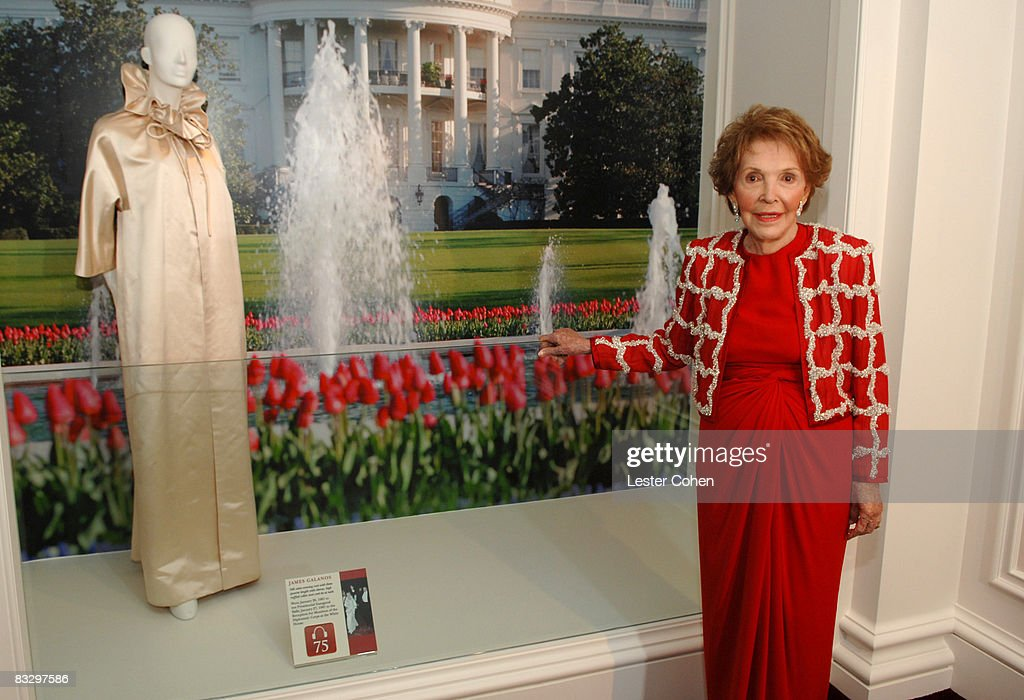 Lady In Red - Nancy Reagan Her Iconic Style Photo Album | Getty Images