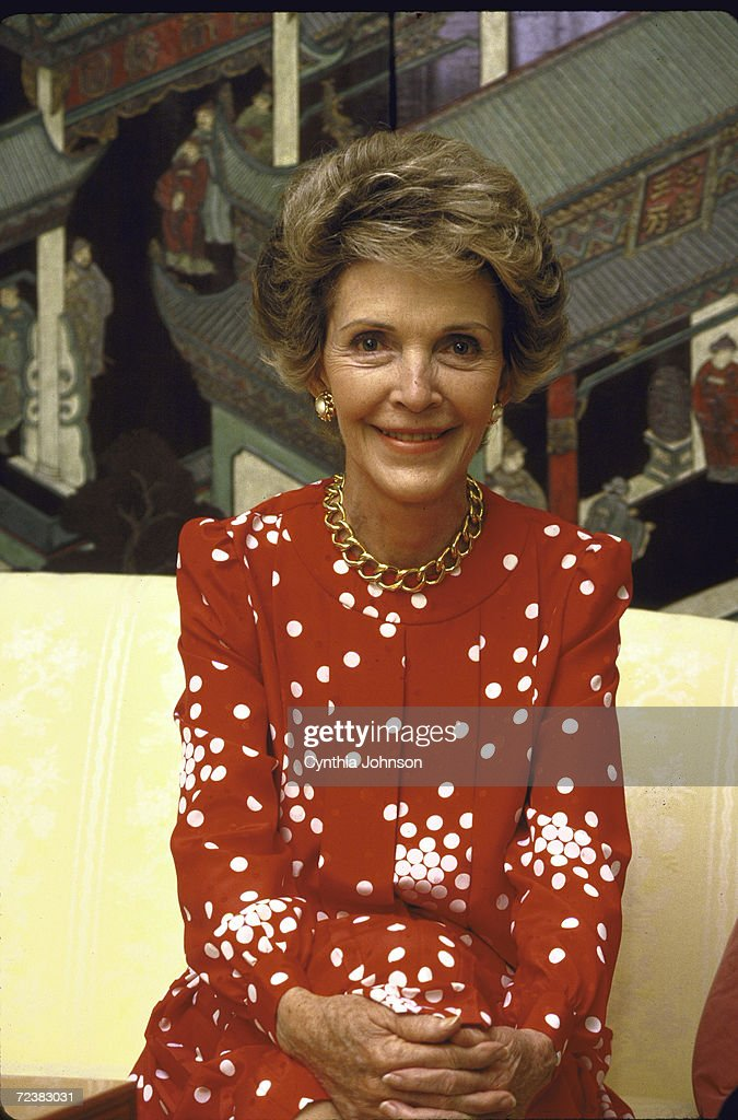 First Lady Nancy Reagan during interview by Time Magazine's : News Photo
