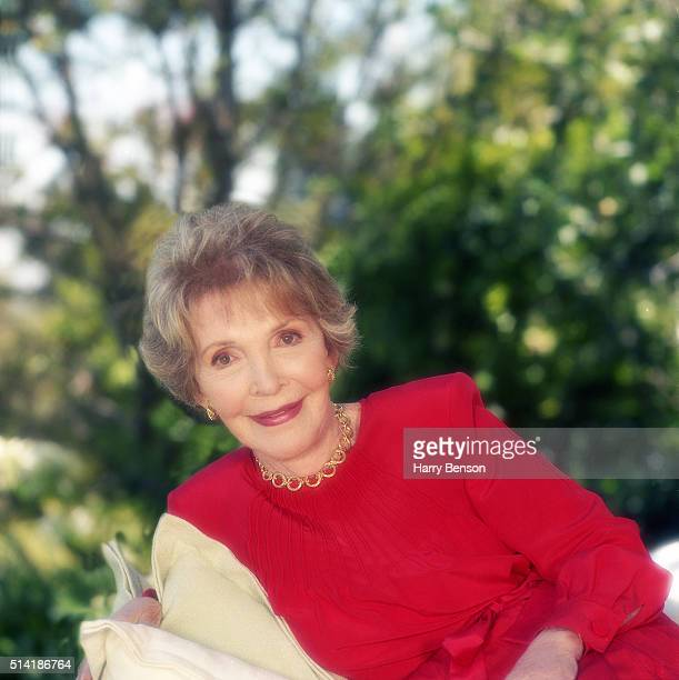 First Lady Nancy Reagan is photographed in 1999 in Bel Air California
