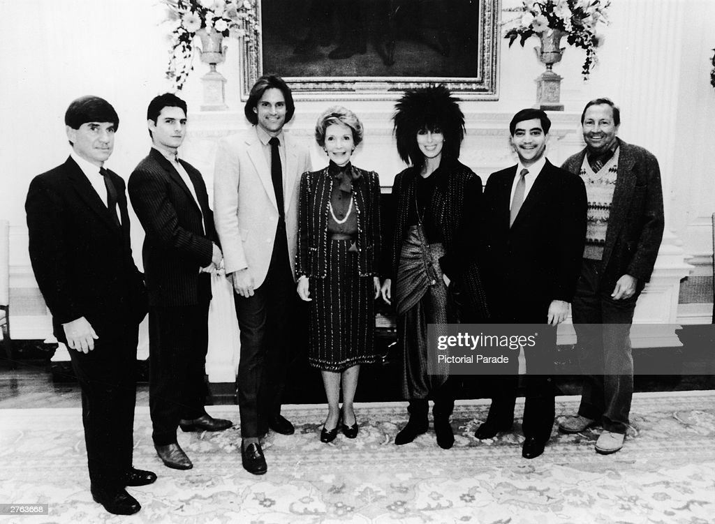 Nancy Reagan With Celebrities : News Photo