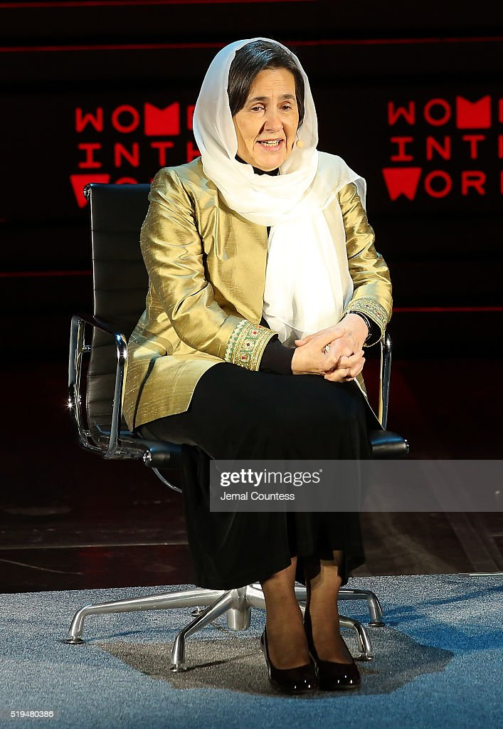 First Lady of Afghanistan Rula Ghani speaks onstage at Tina Brown's 7th Annual Women In The World Summit Opening Night at David H. Koch Theater at Lincoln Center on April 6, 2016 in New York City.