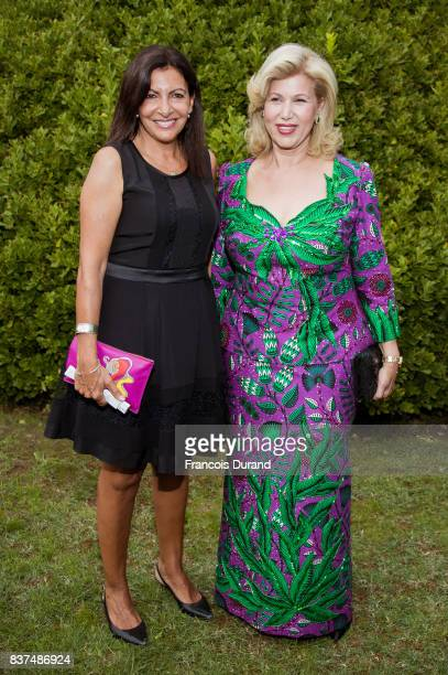 First Lady of Ivory Coast Dominique Folloroux-Ouattara and Mayor of Paris Anne Hidalgo attend the 10th Angouleme French-Speaking Film Festival on...