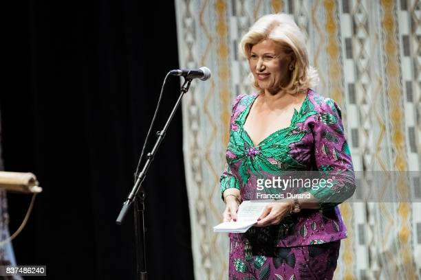 First Lady of Ivory Coast Dominique Folloroux-Ouattara attends the 10th Angouleme French-Speaking Film Festival on August 22, 2017 in Angouleme,...