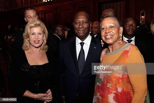 First Lady of Ivory Coast Dominique Folloroux-Ouattara, Ivory Coast President Alassane Ouattara and Ambassador Alice Dear of A.M. Dear & Associates...