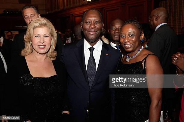 First Lady of Ivory Coast Dominique FollorouxOuattara Ivory Coast President Alassane Ouattara and Rosalind McLymont Executive Editor at The Network...