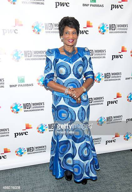First Lady of Malawi Gertrude H Mutharika attends the United Nations 2014 Women's Entrepreneurship Day at United Nations on November 19 2014 in New...