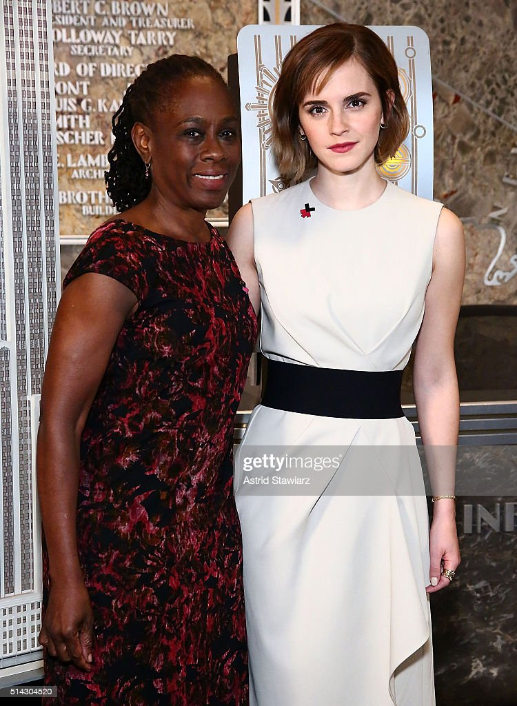 Emma Watson And Chirlane McCray Light The Empire State Building In HeForShe Magenta For International Women's Day