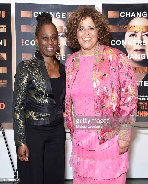 First Lady of New York City Chirlane McCray and actress playwright and executive producer Anna Deavere Smith attend the 'Notes From The Field' New...