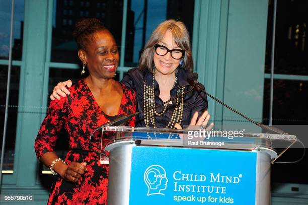 First Lady of New York City Chirlane McCray and Child Mind Institute Board of Directors CoChair Brooke Garber Neidich speak onstage during the 2018...