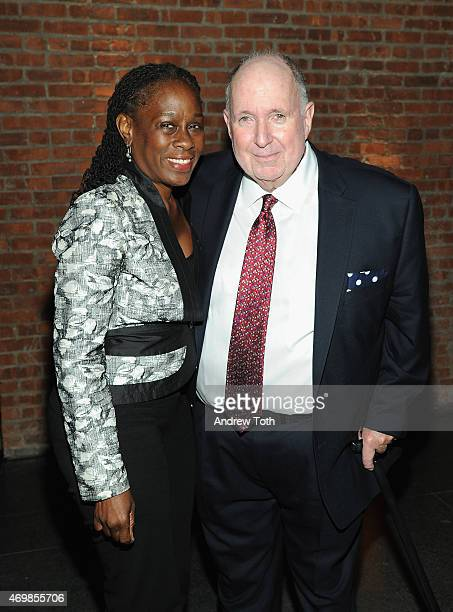 First Lady of New York City Chirlane McCray and director of Brooklyn Museum Arnold Lehman attends the 5th Annual Brooklyn Artists Ball at Brooklyn...