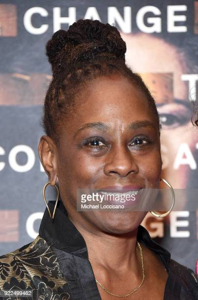 First Lady of New York City Chirlane McCray attends the Notes From The Field New York screening at Museum of Modern Art on February 21 2018 in New...
