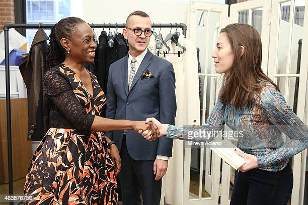 First lady of New York City Chirlane McCray Chief Executive Office of CFDA Steven Kolb and fashion designer Misha Nonoo attend CFDA {Fashion...
