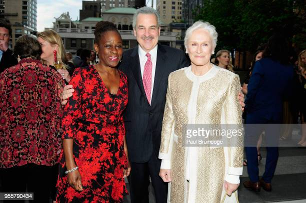 First Lady of New York City Chirlane McCray President of The Child Mind Institute Dr Harold S Koplewicz and Honoree and Cofounder of Bring Change 2...
