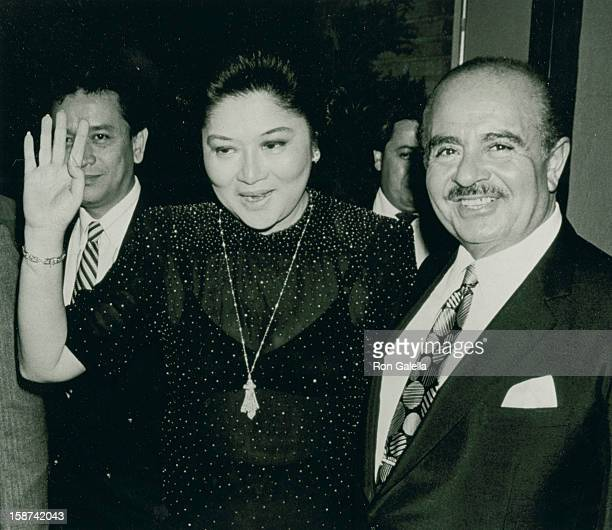 First Lady of the Philippines Imelda Marcos and businessman Adnan Khashoggi sighted on July 2 190 at Nile Restaurant in New York City