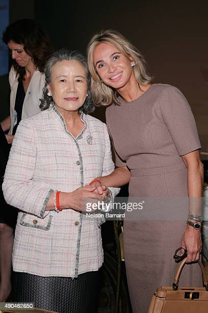 First Lady of the United Nations Madame Ban Soontaek and Corinna SaynWittgenstein attend the Fashion 4 Development's 5th annual Official First Ladies...