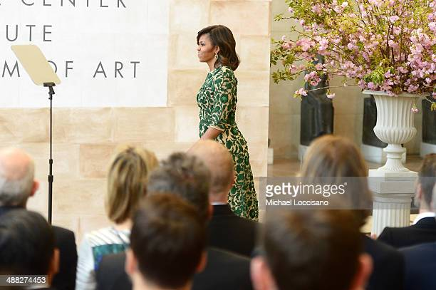 First Lady of the United States Michelle Obama attends the Anna Wintour Costume Center Grand Opening at the Metropolitan Museum of Art on May 5 2014...