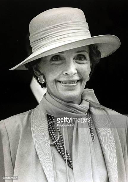 29th July 1981 London Nancy Reagan Americas First Lady the wife of President Ronald Reagan about to attend the wedding of Prince Charles and Lady...