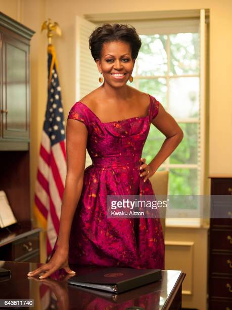 First Lady of the United States of America Michelle Obama is photographed for Essence Magazine on July 15 2011 in Washington DC