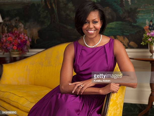 First Lady Michelle Obama is photographed for USA Weekend on February 25 2010 in Washington DC