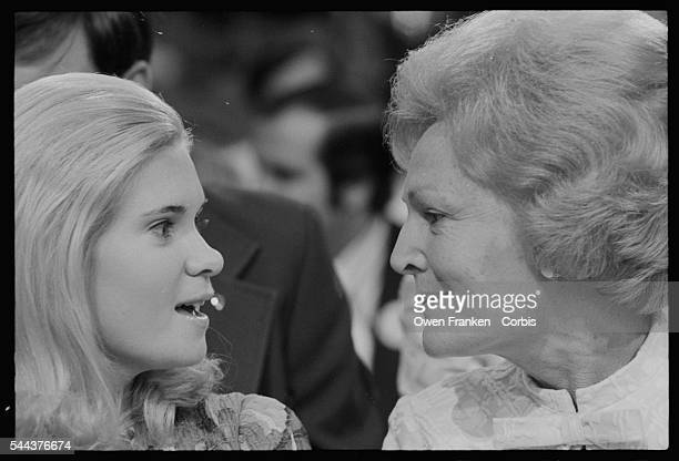 First Lady Pat Nixon and daughter Tricia at the 1972 Republican National Convention