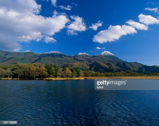 First Lake of Shiretoko Five Lakes and Shiretoko Mountains, Shari, Hokkaido, Japan