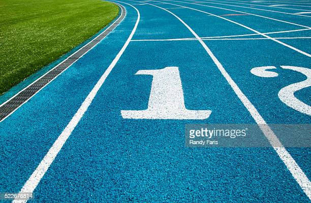 First lane of running track