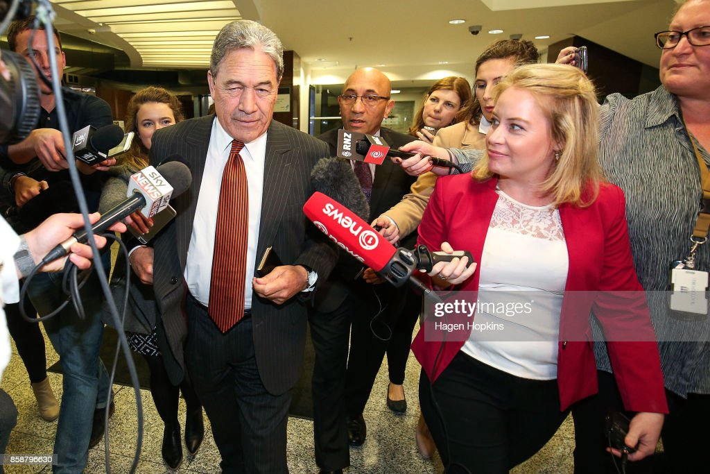 Winston Peters Meets With Nationals And Labour For Formal Coalition Discussions : News Photo