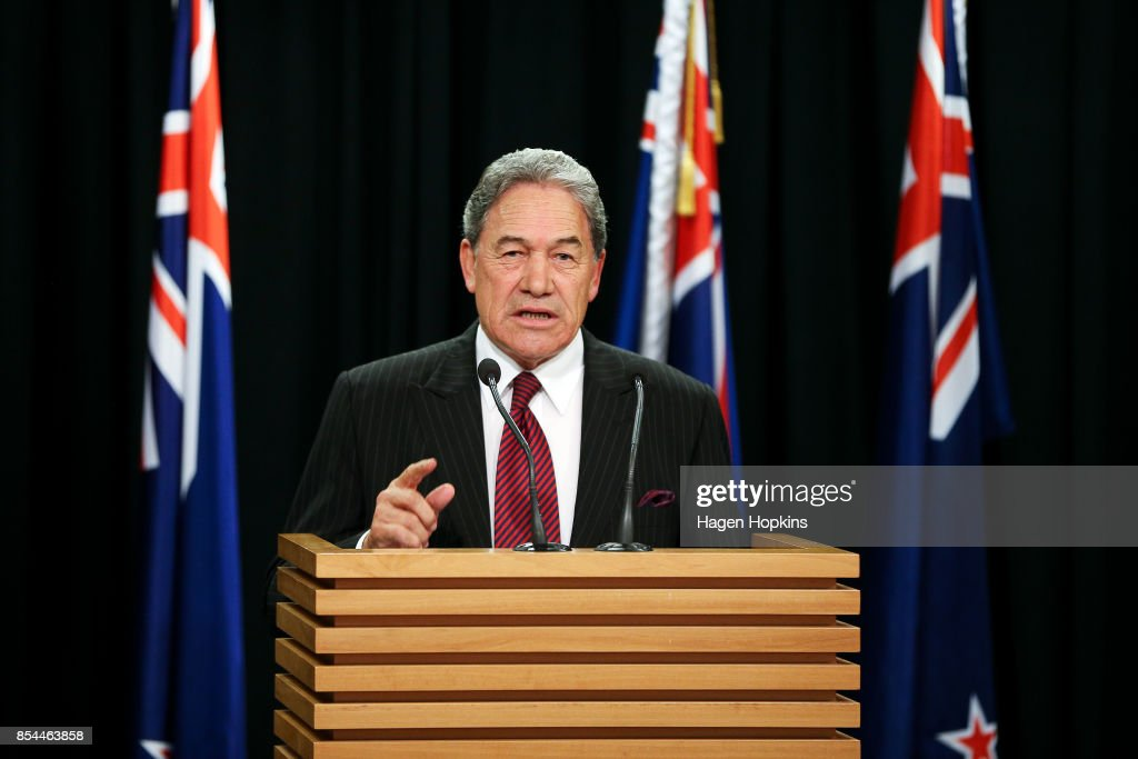 New Zealand First Party Leader Winston Peters Holds Media Press Conference : News Photo