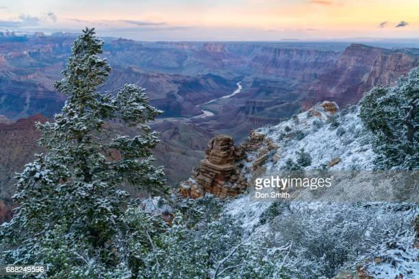 first light at desert view - don smith stock-fotos und bilder