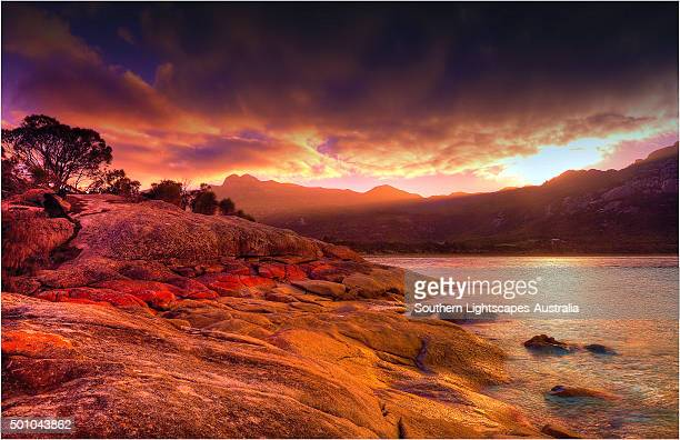 First light at Trousers point Lacota, Flinders Island Bass Strait, Tasmania.