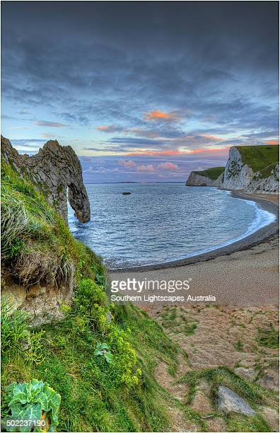 First Light on Durdle Door, Dorset, England.