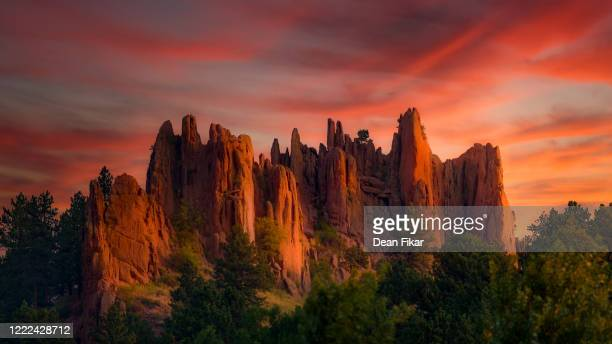 first light on red rocks - boulder colorado stock pictures, royalty-free photos & images