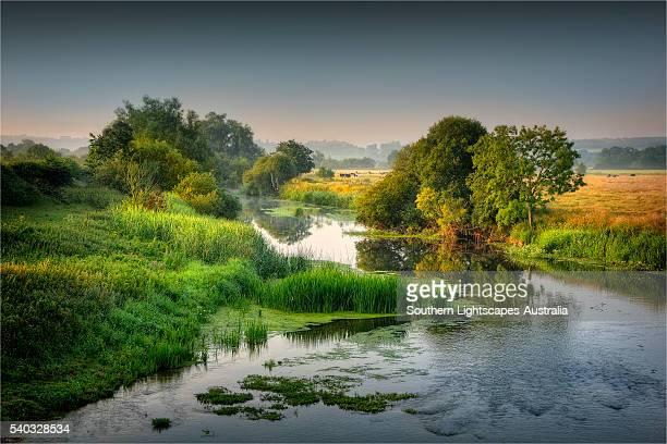 First light on the Stour river, Dorset, England, United Kingdom.