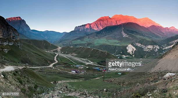 first light over mount shahdag - azerbaijan stock pictures, royalty-free photos & images