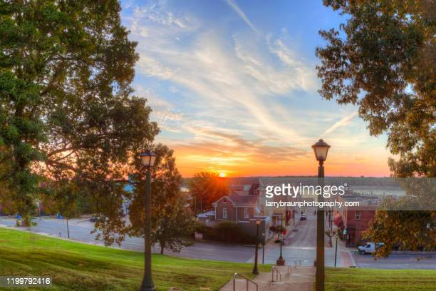first light - small town stock pictures, royalty-free photos & images