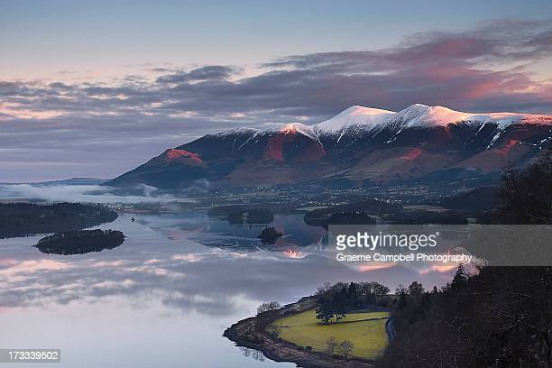 first light - keswick stock photos and pictures