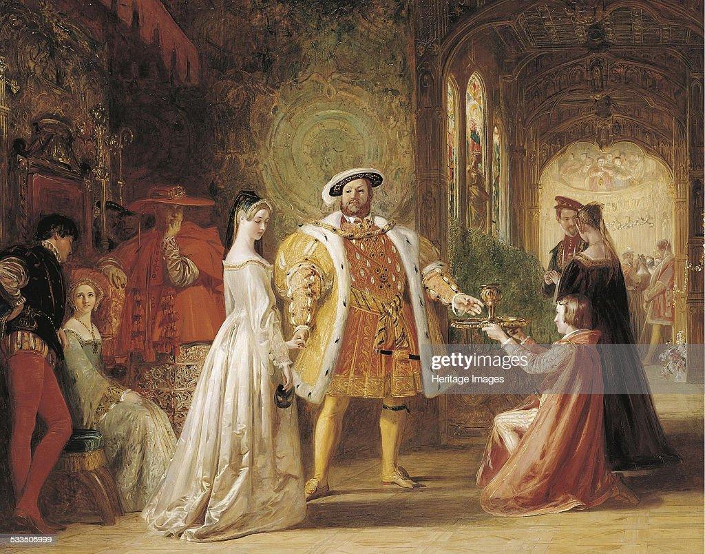 First meeting of Henry VIII and Anne Boleyn, 1835. Artist: Maclise, Daniel (1806-1870) : News Photo
