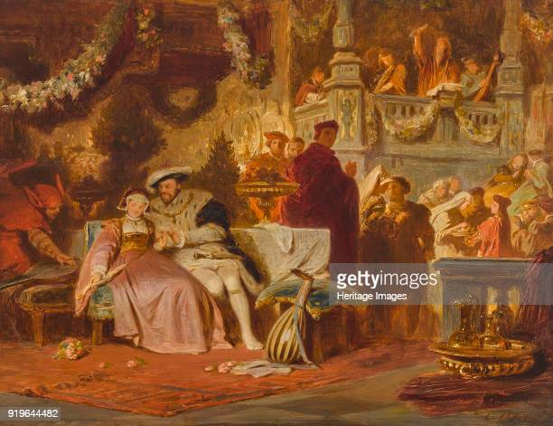 First meeting of Henry VIII and Anne Boleyn in the House of Cardinal Wolsey Private Collection