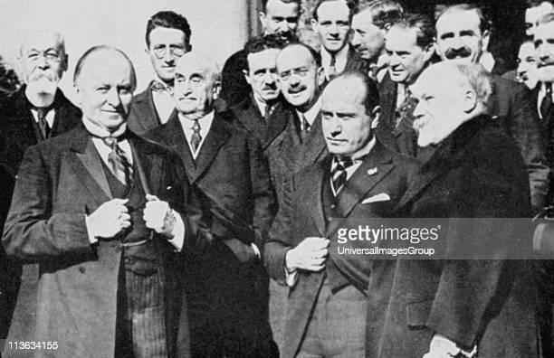 First meeting of the Allied Representatives at the Lausanne Conference which met in November 1922 to make peace with Turkey Left to right front row...
