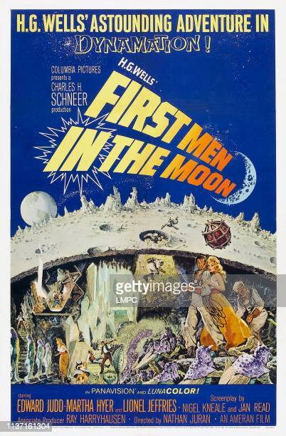 First Men In The Moon poster US poster from bottom left Edward Judd Martha Hyer Lionel Jeffries 1964