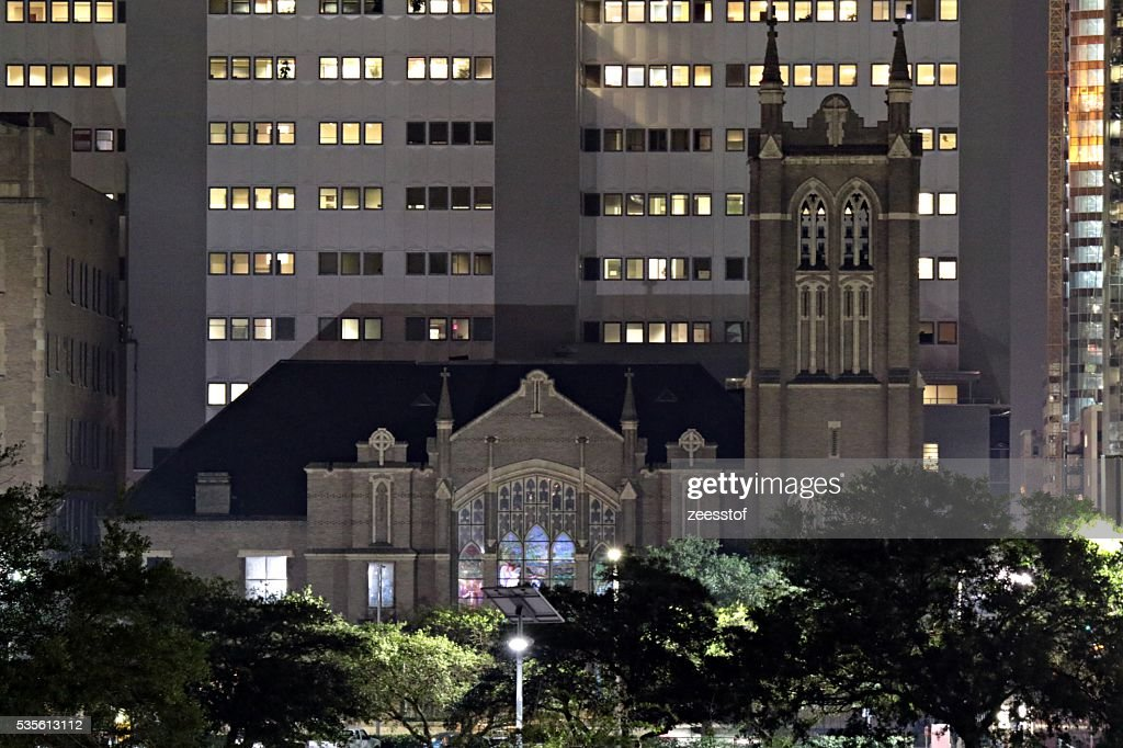 First Methodist Church Downtown Houston Stock Photo - Getty