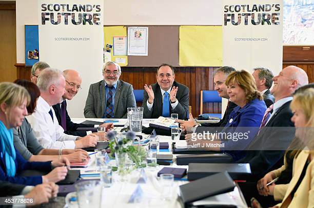 First Minister Alex Salmond and the Scottish Cabinet hold the last in a series of Cabinet meetings outside of Edinburgh following the publication of...