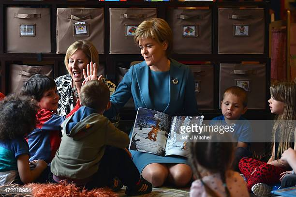 First Minister and leader of the SNP Nicola Sturgeon and candidate Hannah Bardell visit ABC nursery as campaigning in the general election entered...