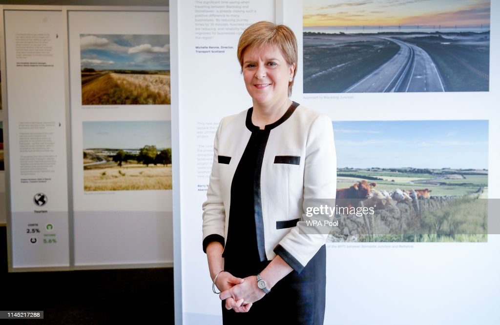 GBR: First Minister Nicola Sturgeon Visits Aberdeen International Business Park