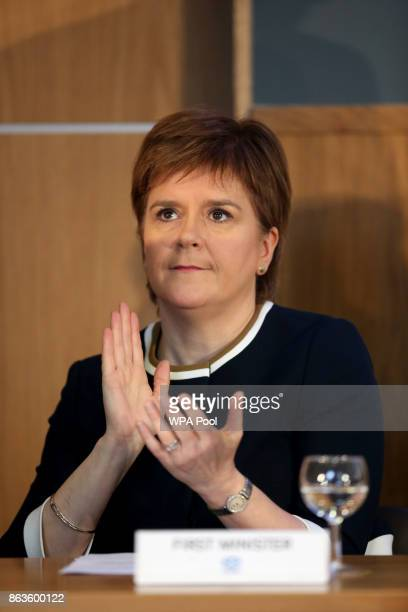 First Minister Nicola Sturgeon alaus as she visits Scotland's Inclusive Growth Conference as she outlines how reducing inequality and creating a...