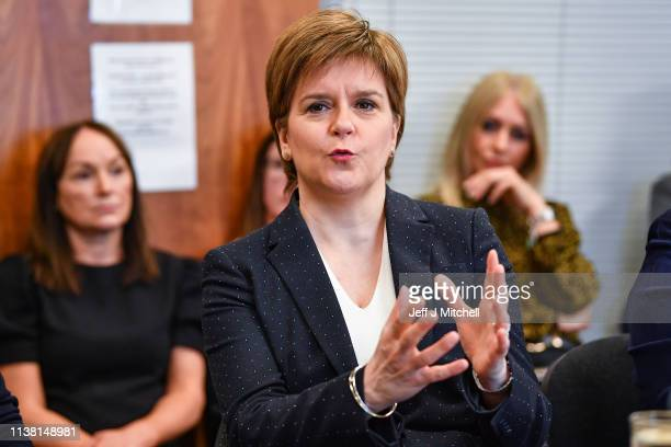First Minister Nicola Sturgeon and Cabinet Secretary for Justice Humza Yousaf visit Glasgow East Women's Aid one week ahead of the Domestic Abuse Act...